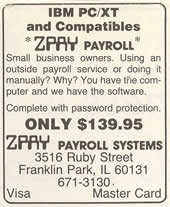 1983 Ad for ZPAY for IBM PC