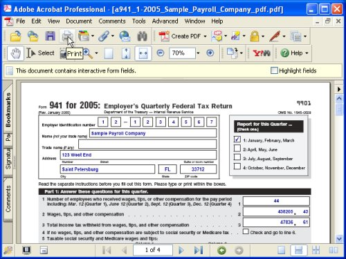 Aatrix:: basic steps for processing and printing forms.